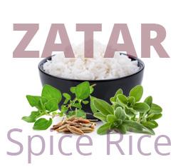 Zatar spice rice